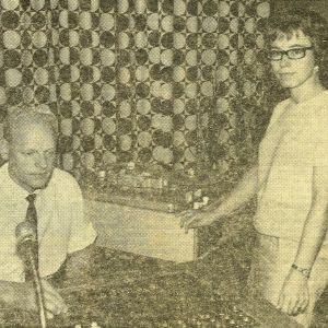 Stig Malmberg och Birgitta Pakarinen i Borgåstudion år.