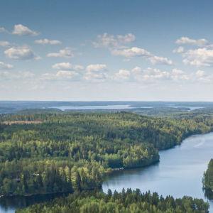 Senja Larsenin dronella kuvaama suomalaismaisema.