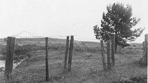 Gräns i Narvusi, Ingermanland år 1938.