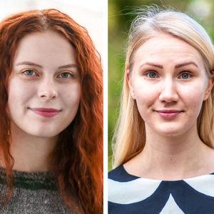 vihreät Peppi Seppälä, demarit Pinja Perholehto ja keskusta Hanna Markkanen