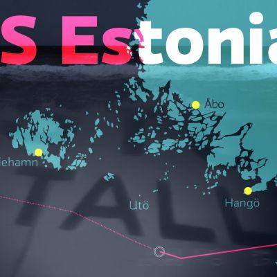 Rutten M/S Estonia åkte mellan Estland och Sverige