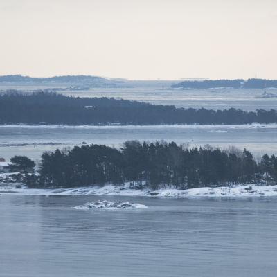 Stora talludden sett från Hangö vattentorn