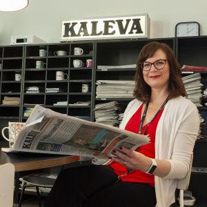 Kalevan päätoimittaja Sanna Keskinen