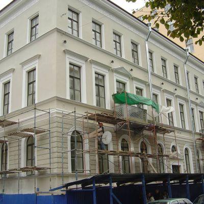 Suomi-talo Pietarissa on viimeistelyä vaille valmis 7. lokakuuta 2009.