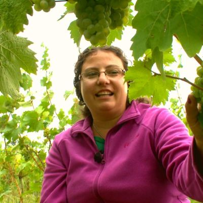 Charlotte Antoniou är en av eldsjälarna bakom Forty Hall Vineyard i London.