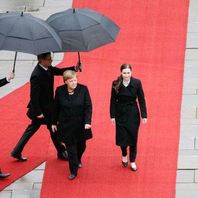 Sanna Marin ja Angela Merkel tapaavat Berliinissä.