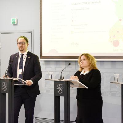 Mika Salminen, Krista Kiuru ja Sanna Marin