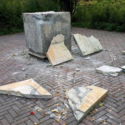 Tuhottu  Astemittauksen muistomerkki Torniossa.