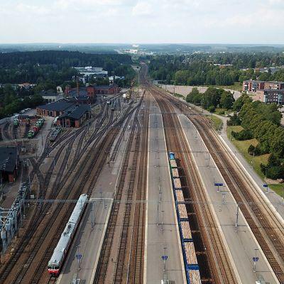 Kouvolan rautatieasema 3. elokuuta 2018.