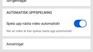 Automatisk uppspelning på Youtube