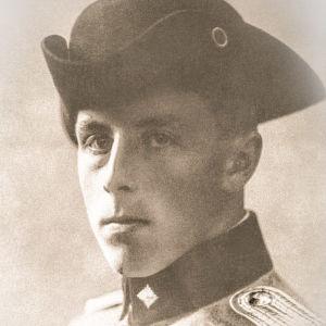 Carl von Haartman som ung kavallerist.