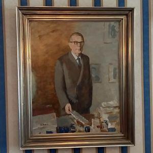 Porträtt av A.I. Virtanen i Villa Sibbe.