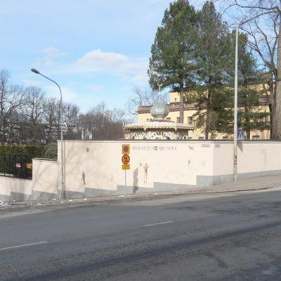 Turun Hämeenkatu Rettigin palatsin kulmalta kuvattuna