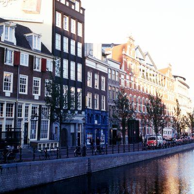 Näkymä Amsterdamin kaupunkiin.