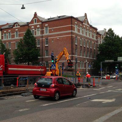 Kunnallisteknisiä töitä Tammelassa Tampereella
