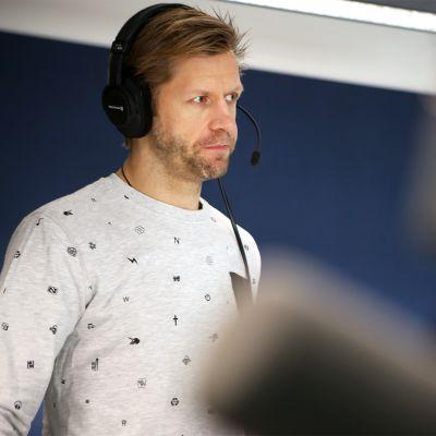 Tomi Kallio Yle Turun radiolähetyksessä.