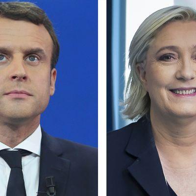 Macron ja le Pen.