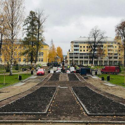 Kuopiolainen Snellmaninpuisto on remontissa myöhäissyksyllä