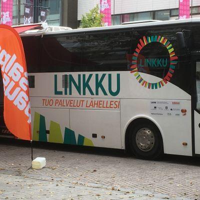 Linkku-palvelubussi Lahdessa