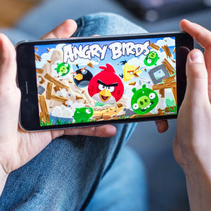 Bild på Angry Birds-mobilspelet.