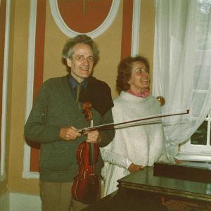 Anneli Rauhala-Wentz yhdessä miehensä Detlev Wentzin kanssa.