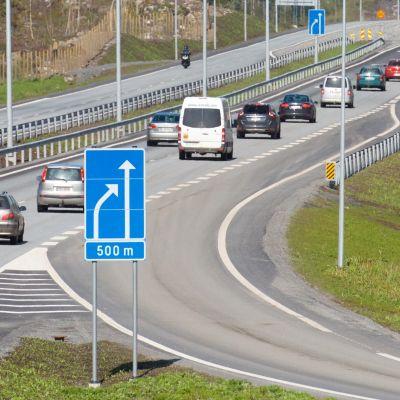Norra ändan av Smedsby omfartsväg