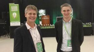 Kristian Bäckström och André Kaustell från ControlThings Oy Ab.
