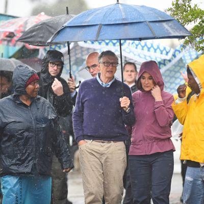 Bill ja Melinda Gates vierailulla Etelä-Afrikassa.