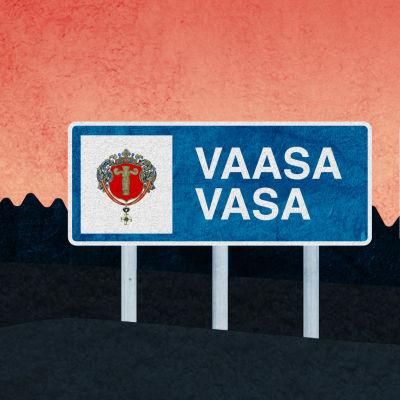 Skyld med texten Korsholm och Vasa
