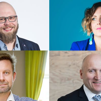 Jussi Hurskainen, Heli Kurjanen, Mårten Janson ja Hannu Ali-Haapala