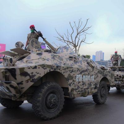 Etiopian armeijan joukkoja harjoituksissa Addis Abeban lähellä syyskussa 2020.