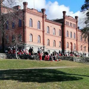 Vappen i Hovrättsparken i Vasa 2021.