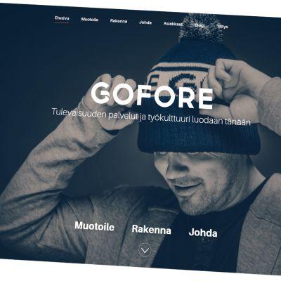 Kuvakaappaus Goforen verkkosivuilta.
