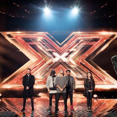 X Factor -kilpailun finalistit harjoituksissa 8. joulukuuta.