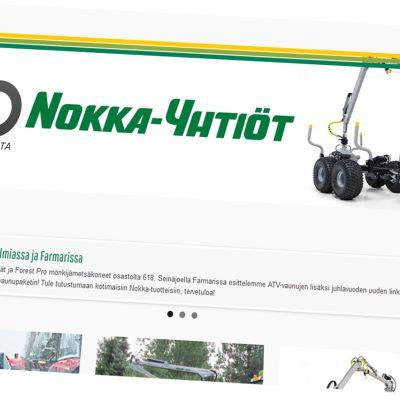 Kuvakaappaus Nokka-yhtiöiden verkkosivuilta.