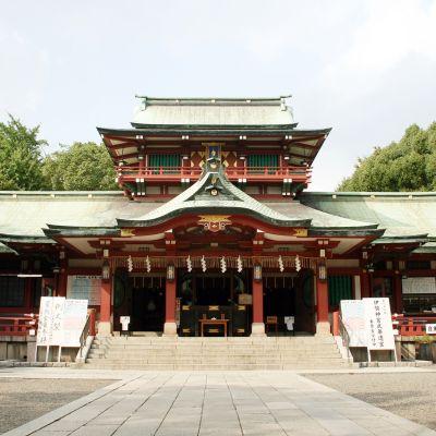 Tomioka Hachimangun pyhäkkö.