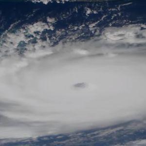 Ett foto på orkanen Dorian taget från internationella rymdstationen ISS