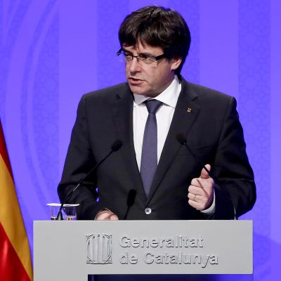 Katalonian aluejohtaja Carles Puigdemont.