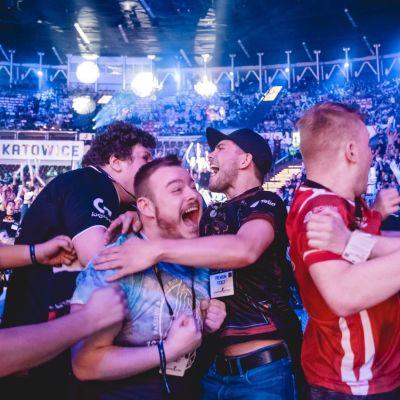 Fanit juhlivat Katowicessa.