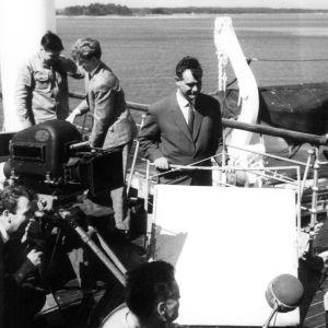 Tähdet kertovat, komisario Palmu -elokuvan kuvauksissa (1962).