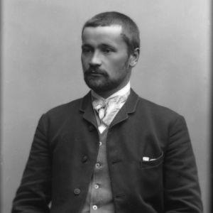 Daniel Nyblinin kuvaamossa otettu I. K. Inhan muotokuva vuodelta 1890