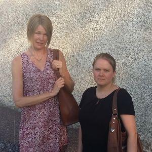 Hanna Hörhammar och Annika Westerlund från Söderkulla i Sibbo.