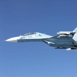 Ett Suchoj Su-27-plan
