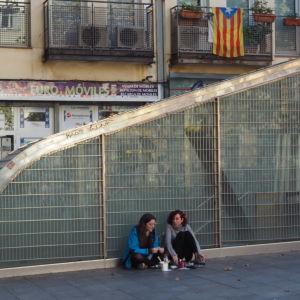 I den hippa statdsdelen Gràcia i Barcelona är det många som stöder självständighet.