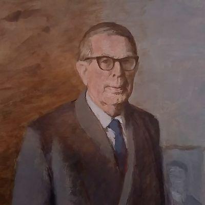 Porträtt av kemisten och nobelisten A.I. Virtanen.