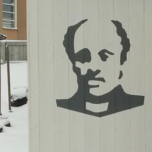 Grafittimålning av J.L. Runeberg