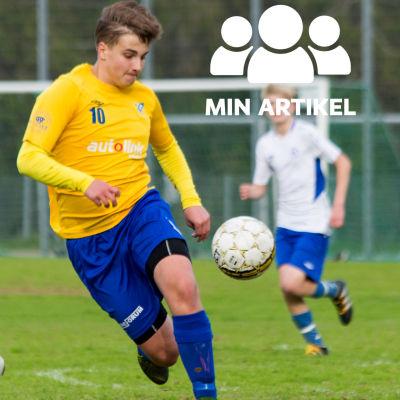 Oliver Nordlund spelar fotboll.