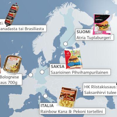 Lihan alkuperä -kartta