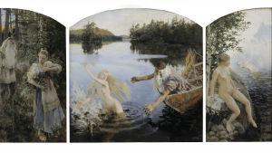 Ainomyten, triptyk av Akseli Gallén-Kallela