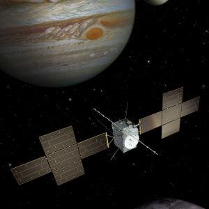 JUICE-luotain Jupiterin luona.